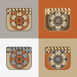 Grunge Retro Cinema Icons by YasnaTen