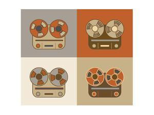 Retro Reel to Reel Tape Recorder Icon by YasnaTen
