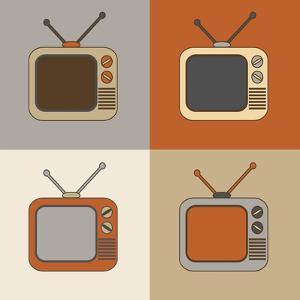 Retro Tv Set Icons by YasnaTen