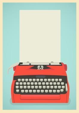 Retro Typewriter Background by Yaviki