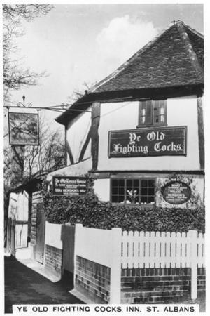Ye Old Fighting Cocks Inn, St Albans, Hertfordshire, 1937