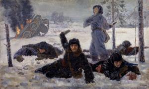 The Tank Crew Fighting, 1940S by Yekaterina Sergeyevna Zernova