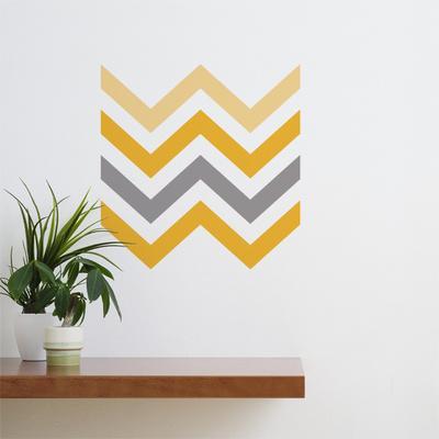 Yellow Chevron Wall Decal