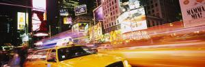 Yellow Taxi on the Road, Times Square, Manhattan, New York City, New York, USA