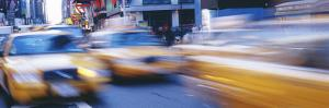 Yellow Taxis on the Road, Times Square, Manhattan, New York City, New York State, USA