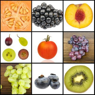 Collage of Fruit in Squares by YellowPaul
