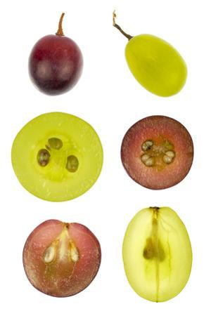 Collage of Sliced Red and Green Grapes by YellowPaul