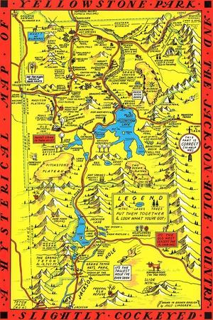 Maps of Wyoming Posters for sale at AllPosterscom