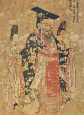 Yen Li-pen (Emperor Wu-Ti from the late Chou Dynasty) Art Poster Print