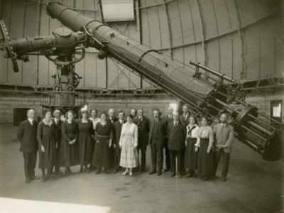 Albert Einstein and the Staff of Yerkes Observatory by Yerkes Observatory