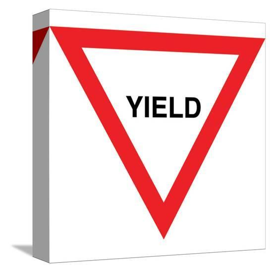 Yield--Stretched Canvas Print
