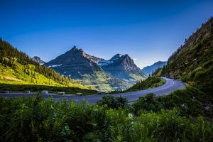 Mountain Pass, Continental Divide, Glacier National Park, Montana by Yitzi Kessock