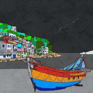 Boat Ride along the Coast I by Ynon Mabat