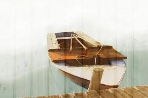 Boat with Textured Wood Look II by Ynon Mabat