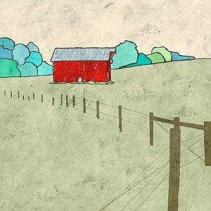 Little Red Barn by Ynon Mabat