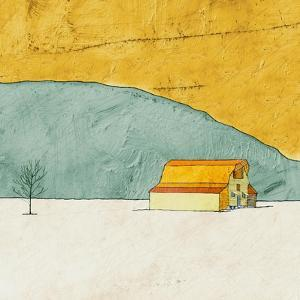 Teal and Yellow Barn by Ynon Mabat