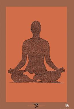 Yoga Sutras of Patanjali Book 1 Text Poster