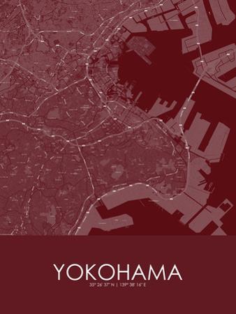 Yokohama, Japan Red Map