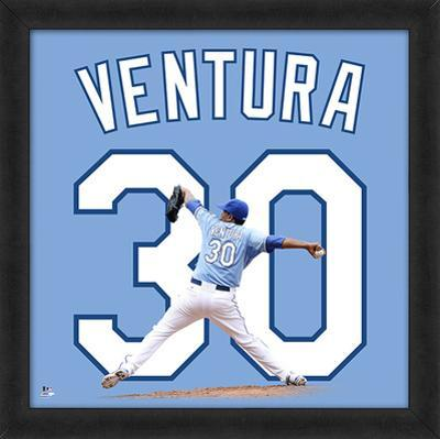 Yordano Ventura, Royals Framed photographic representation of the player's jersey