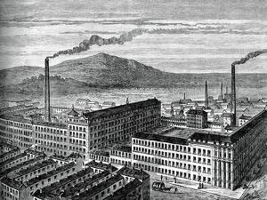 York Street Mill, Belfast, C1880 by J Kirchner