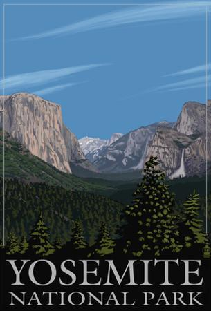 Yosemite Valley Scene, California, C.2009
