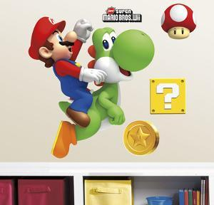 Yoshi and Mario Peel & Stick Giant Wall Decals
