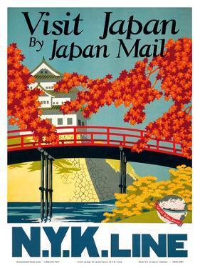 Visit Japan - by Japan Mail - N.Y.K. Line (Nippon Yusen Kaisha) by Yoshi