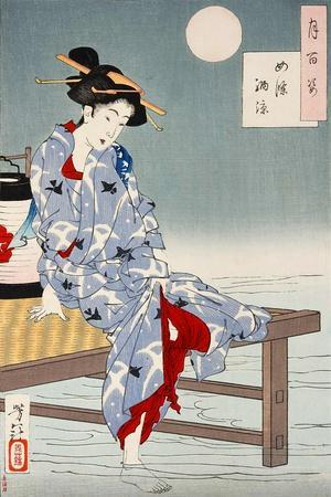 Cooling Off at Shijo, One Hundred Aspects of the Moon
