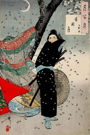 Gust of Wind, One Hundred Aspects of the Moon by Yoshitoshi Tsukioka