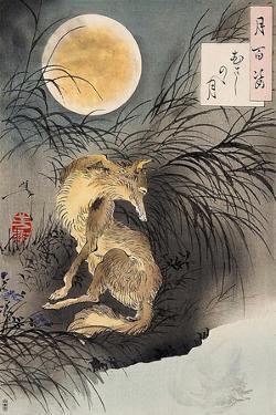 Moon on Musashi Plain, One Hundred Aspects of the Moon by Yoshitoshi Tsukioka