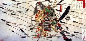 The Last Stand of the Kusunoki by Yoshitoshi Tsukioka
