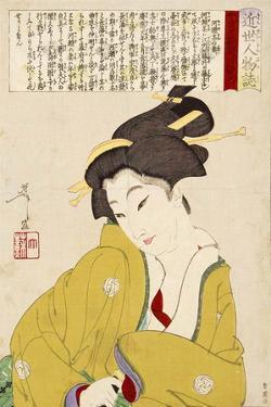 Wife of Kawase - Modern Figure by Yoshitoshi Tsukioka