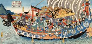 Chronicle of the Rise and Fall of the Minamoto and Taira Clans, Genpei Seisuiki by Yoshitsuya Utagawa