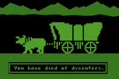 You Have Died of Dysentery Video Game Plastic Sign