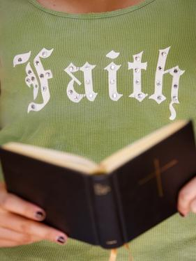 Young Christian Reading the Bible, Saint-Gervais, Haute Savoie, France, Europe