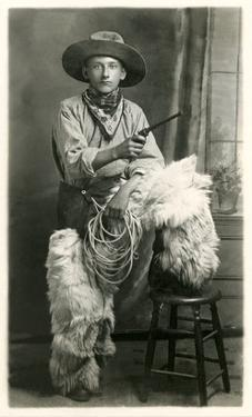 Young Cowboy with Woolly Chaps
