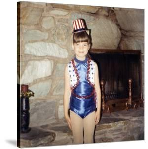 Young Girl in a Patriotic Dance Outfit Poses, Ca. 1967