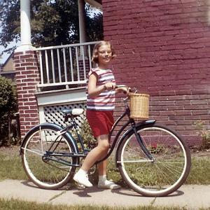 Young Girl on Her New Bike, Ca. 1965
