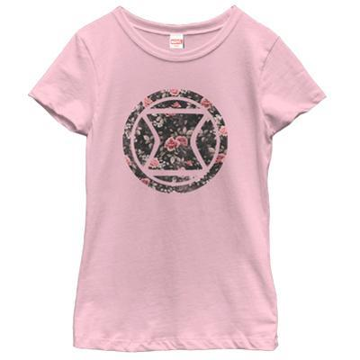 Young Girls: Black Widow- Floral Logo