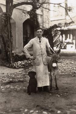 Young Man with a Dog and a Donkey, Gibraltar