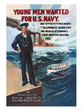 Young Men Wanted for U.S. Navy
