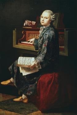 Young Musician at the Harpsicord