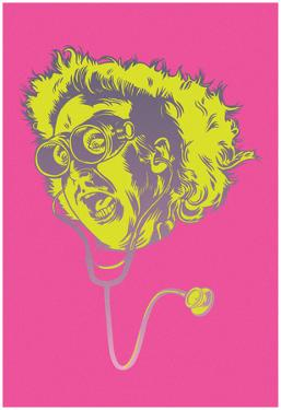Young Wildinstein Pink Comic Pop Portrait