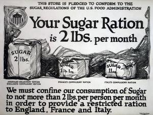 Your Sugar Ration Is 2 Lbs. Per Month, 1917