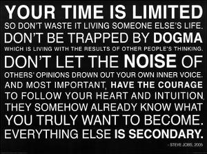 Your Time Is Limited - Steve Jobs Quote Poster