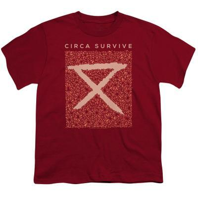 Youth: Circa Survive- Floral Bloack Logo