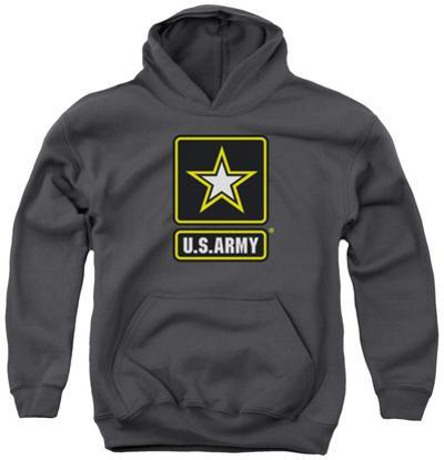 Youth Hoodie: Army - Logo