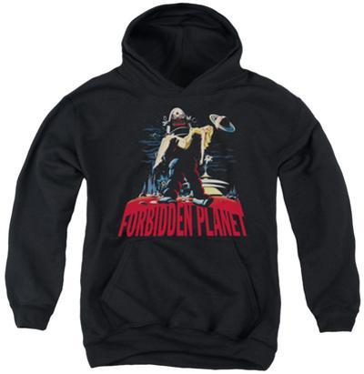Youth Hoodie: Forbidden Planet - Robby And Woman