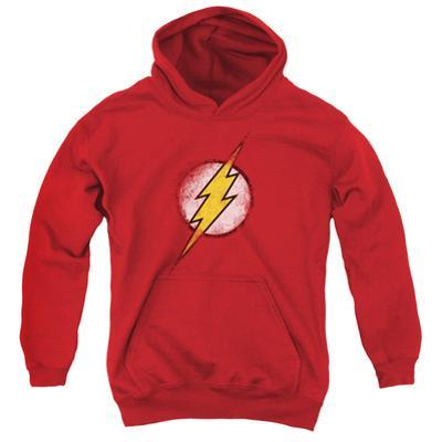 Youth Hoodie: Justice League - Destroyed Flash Logo