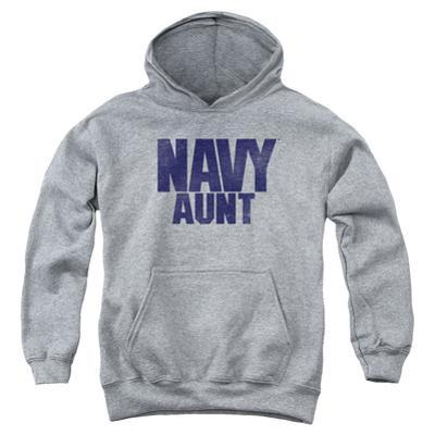 Youth Hoodie: Navy - Aunt